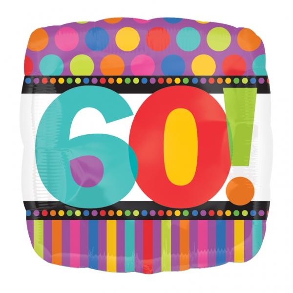 cb926b0a72bd rutig och randig folieballong till 60 årsdagen 28 kr