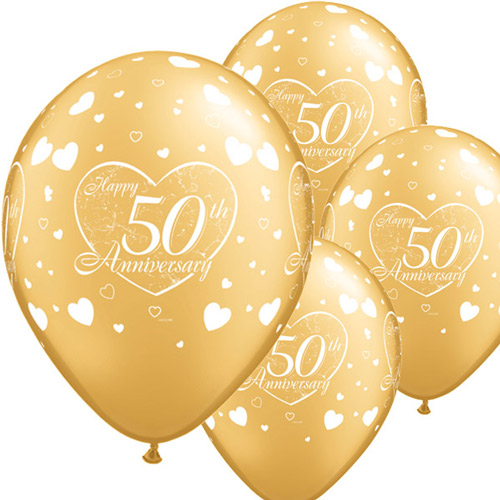 50 års bröllopsdag Små hjärtan 50 års jubileumsballonger   28 cm latex   6 st   37 kr  50 års bröllopsdag