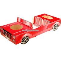 Röd sportbil matbricka - 29,5 x 12 x 5,5 cm