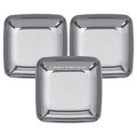 Små plasttallrikar - silver 6 cm - 30 st