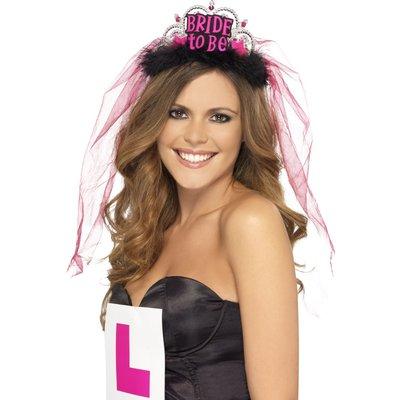 Möhippa tiara Bride To Be - svart