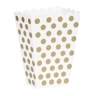Guldiga prickiga popcornbägare - 8 st