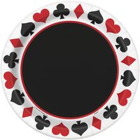 Tallrikar - Casinofest 23 cm 8 st