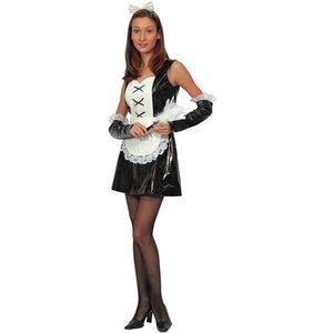 French Maid med rosett - maskeraddräkt