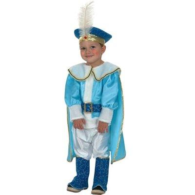 Blå Prins maskeraddräkt 2-4 år