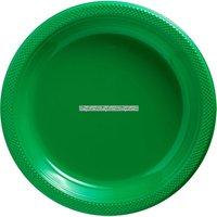 Gröna plasttallrikar
