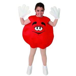 Röd karamell maskeraddräkt - Ålder 7-9 år