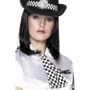 Poliskvinna rutig scarf