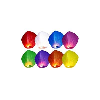 Himmelslykta - Mixade färger 10 st