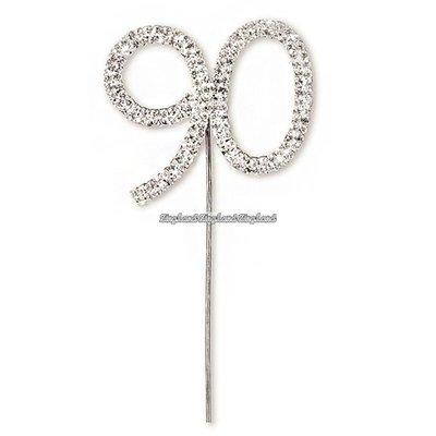 Tårtdekoration med diamanter nummer 90