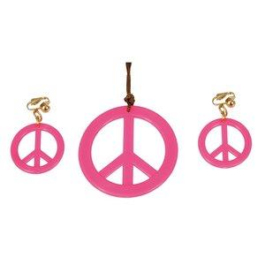 Hippie smycken - Rosa