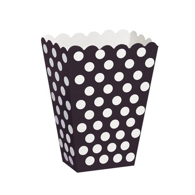 Svart prickiga popcornbägare - 8 st