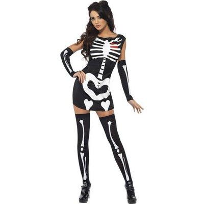 Sexigt skelett maskeraddräkt