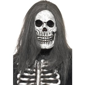 Mask ondskefullt skelett, gummi