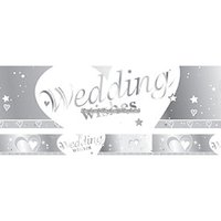 Stor bröllopsbanderoll - Hjärtan 2,7 m