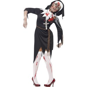 Zombie nunna maskeraddräkt