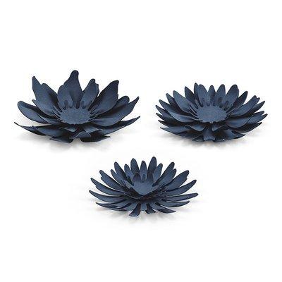 Blomsterdekorationer - Marinblå 7,5 cm 3 st