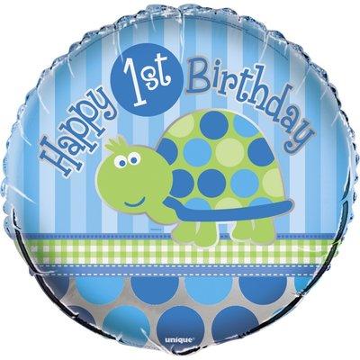 Folieballong - Sköldpadda 1-års födelsedag 45 cm