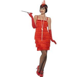 Flapper maskeraddräkt - Röd