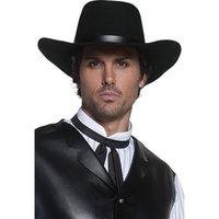 Revolverman svart hatt