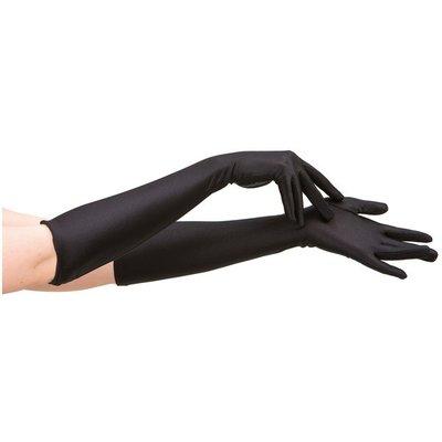 Svarta långa handskar