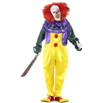 Läskig clown maskeraddräkt