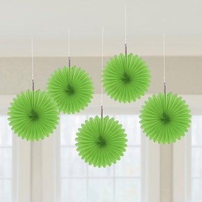 Grön hängande solfjäder dekorationer - 15.2cm st patrick\\\'s dag dekorationer - 5 st