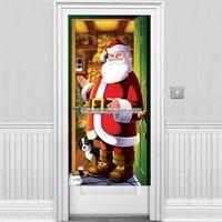 Jultomten i helfigur som dörröverdrag - 1,5 m