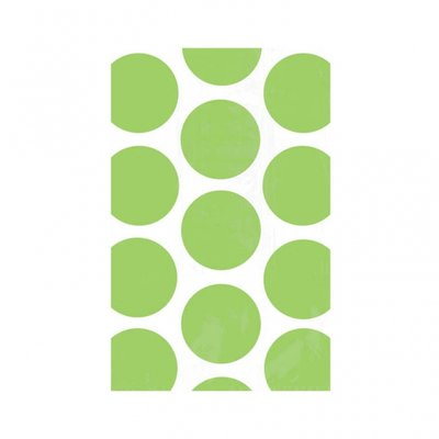 Godispåse med kiwigröna prickar - 10 st