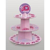 Cupcakestativ - Nyckelpiga 1-års födelsedag