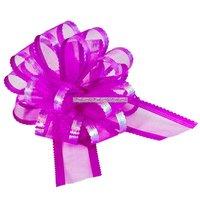 Organza dragrosett - rosa