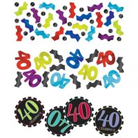 40-års födelsedag bordskonfetti - 34 g