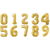 Guldfärgade sifferballonger - 86 cm