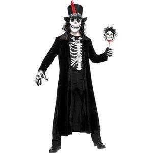 Voodoo-man maskeraddräkt, svart - Medium