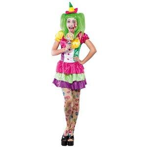 Clownkvinna maskeraddräkt