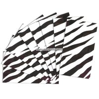 Presentpapper med svart zebramönster - 8 ark