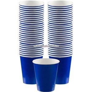 Mörkblå kaffemuggar i papper 340 ml - 40 st