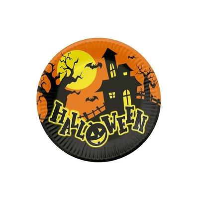 Halloween papperstallrikar - 22,5 cm - 6 st
