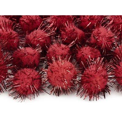 Plyschbollar med glitter - Flera olika färger 20 st