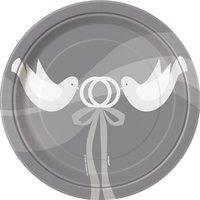 Assietter - Silvigt bröllop - 18 cm 8 st