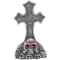 Gravsten kors och dödskalle
