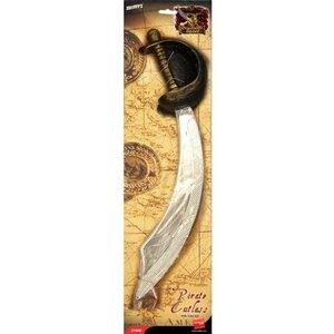 Pirat kort svärd och ögonlapp