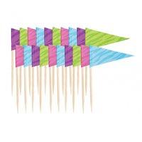 Flagg dekorationer 6.35 cm - 20 st