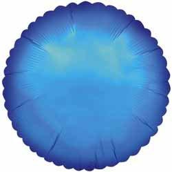 Folieballong - Rund Blå 45 cm