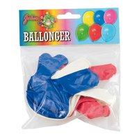 Röda/blå/vita ballonger 10-pack