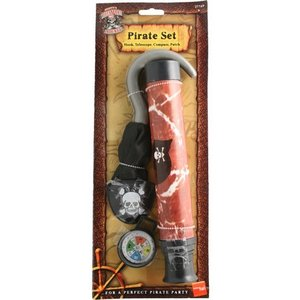 Pirat set med teleskop