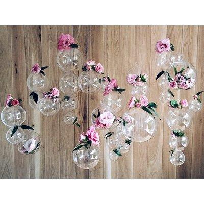 Hängande glasbollar - Flera olika storlekar 4 st