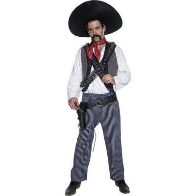 Mexikansk bandit maskeraddräkt - Medium