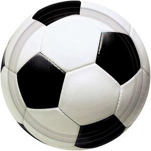 Papperstallrikar med fotboll 23cm - 8 st