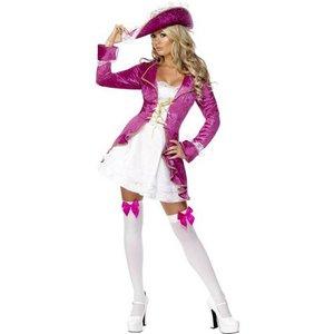 Pirat skatt maskeraddräkt rosa